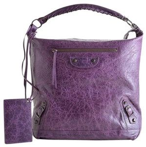 BALENCIAGA RDC6040 RAISIN PURPLE GRAPE LEATHER HOB